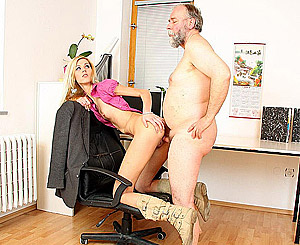 Teen gets her vagina licked and drilled by her boss