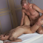 Teen gets her g-spot tongued and nailed by her massage therapist